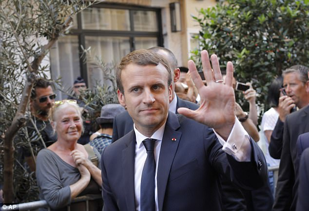France under President Emmanuel Macron (pictured) has leapfrogged the United States and Britain as the world's top 'soft power' with more non-military global influence than any other country