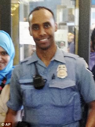 Officer Mohamed Noor (pictured) turned himself in Tuesday morning and is held on murder and manslaughter charges for shooting 40-year-old life coachJustine Damond on July 15 while she was engaged to be married