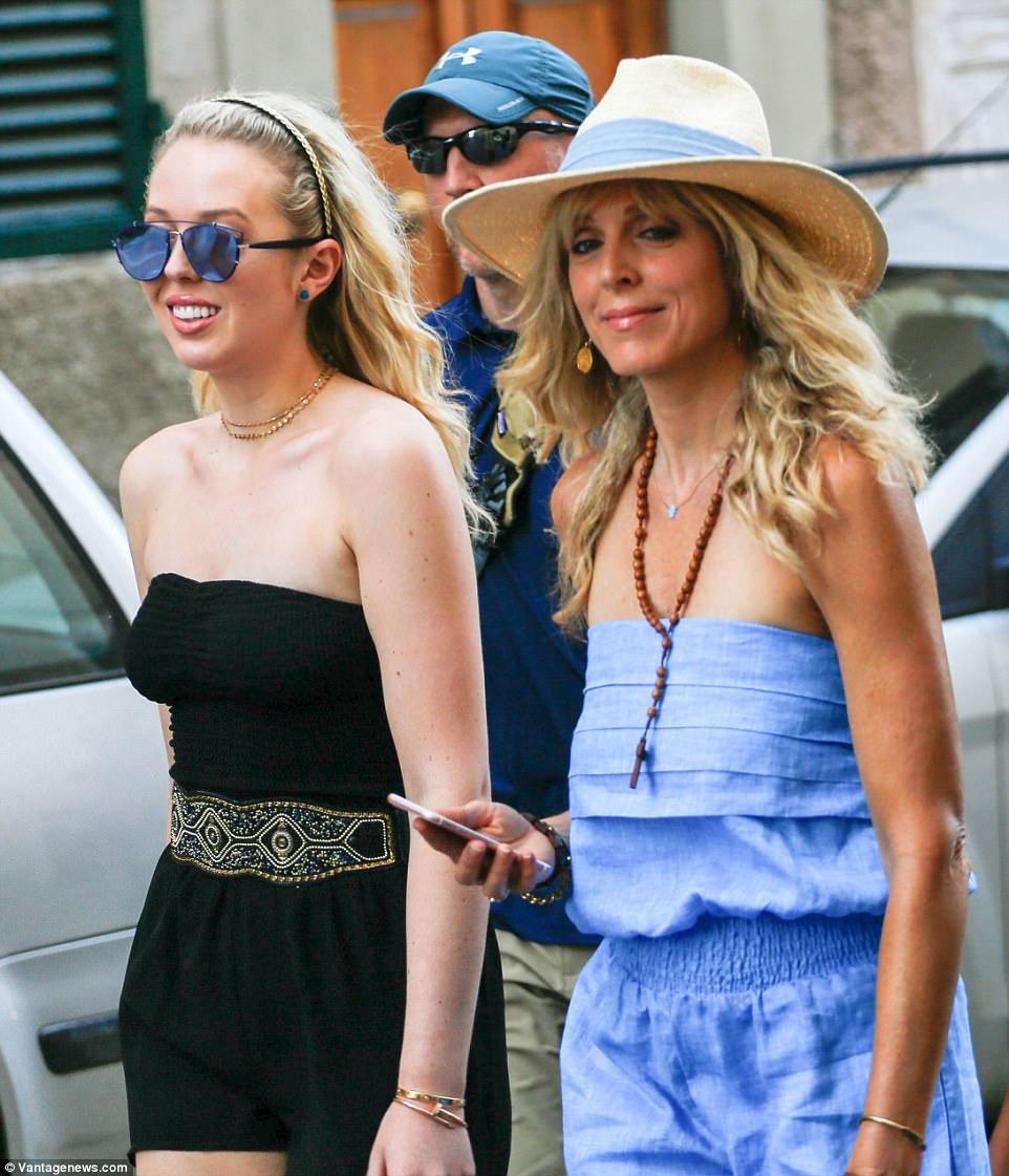 Marla Maples And Tiffany Trump Jet Ski In Italy Daily