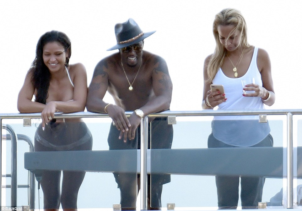 P Diddy Shirtless On Luxury Superyacht Daily Mail Online