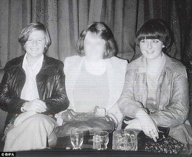 An undated photo shows Miss Scott (left) and Miss Eadie (right) enjoying a drink with a friend