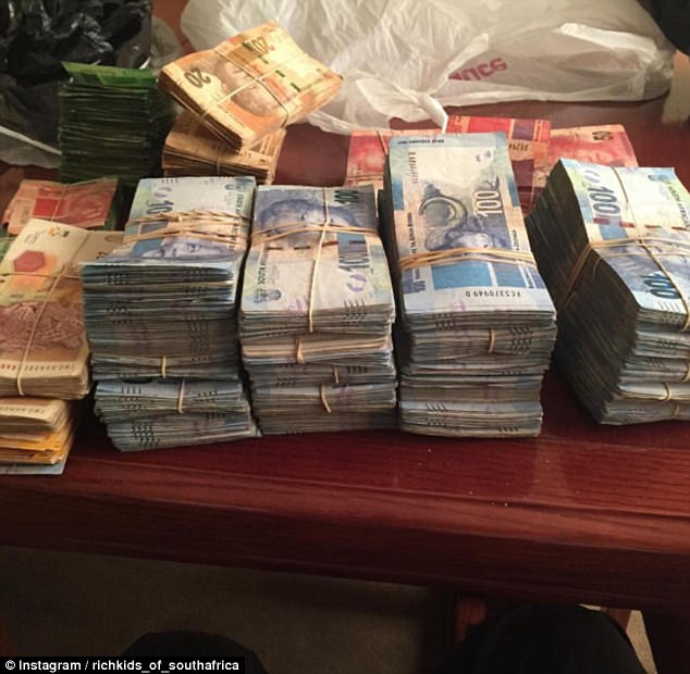 The Rich Kids of South Africa enjoy posting pictures of stacks of their cash to Instagram