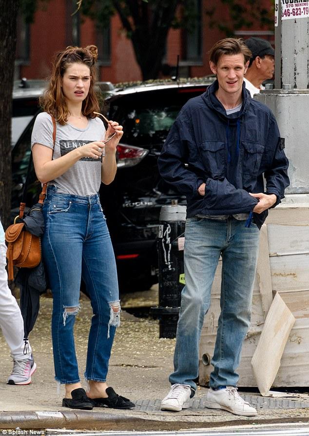 Matt Smith And Lily James Take Stroll Around New York