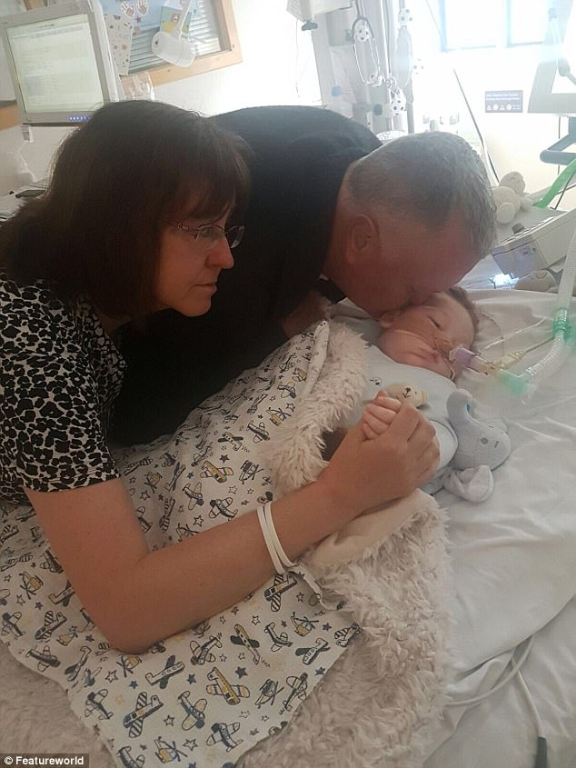 Charlie Gard's paternal grandparents say their final goodbye to their grandson at Great Ormond Street Hospital