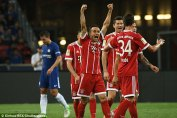 Image result for Muller scores brace as Bayern beat Chelsea 3-2