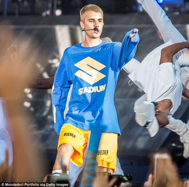 Moving on: Justin Bieber cancelled the remainder of his Purpose world tour because he 'wants to start his own church,' it has been claimed. Here he is seen in June in Monza