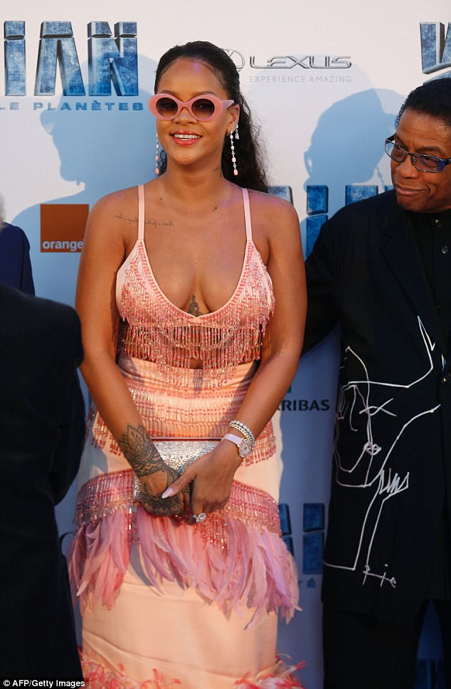 Turning heads: After a short stint away from the limelight she's been turning heads on the tour of her new film. And Rihanna ensured things would be no different at the premiere