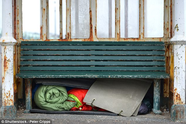 Rough sleepers in Oxford who keep possessions in doorways could face fines of up to £2,500 for being 'detrimental' to the area (file photo)