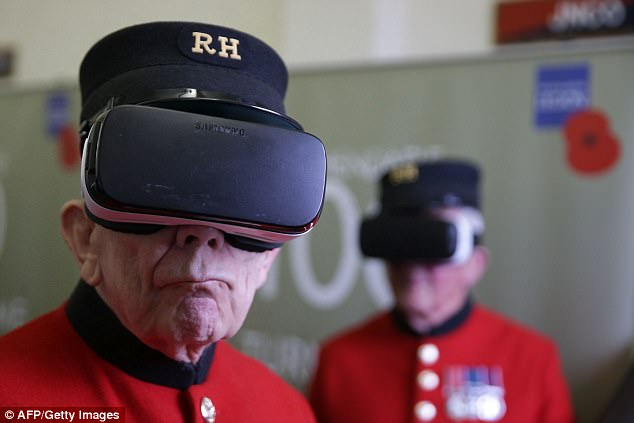 The harrowing conditions faced by soldiers on the fronts lines of the First World War have been recreated using cutting edge virtual reality technology (pictured). Six films have been released to mark the 100th anniversary of the Battle of Passchendaele