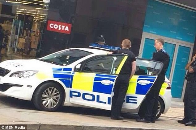 Police arrived by the store on just after 6.50pm on Wednesday and arrested the man on suspicion of attempted child abduction