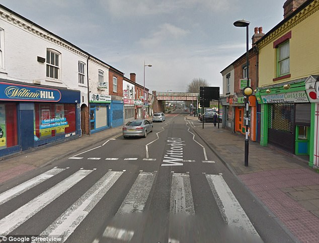 She was then attacked again by a second man (Pictured is a generic view of Witton Road, it is not thought the vehicles above are involved)