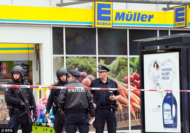 A knife-wielding man has killed one and injured several others after going on a stabbing rampage through a German supermarket this afternoon
