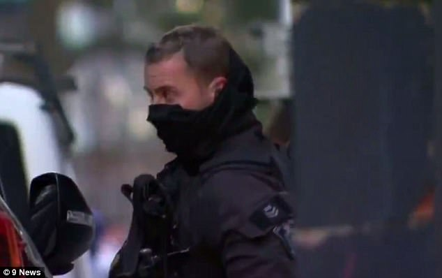 Police (pictured) said raids took place in the suburbs of Surry Hills, Lakemba, Punchbowl, and Wiley Park