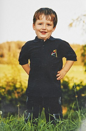 Pictured: Llyr Jones aged five.Llyr, who was born male, started living as a girl when she was 15 years old