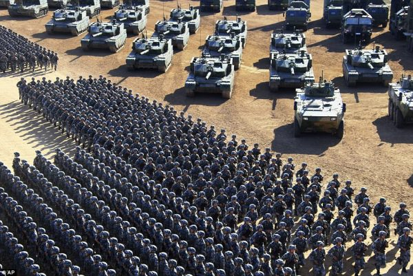 China flexes muscle with massive military parade | Daily ...