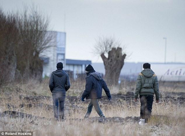 Los arrestos llegan en un momento en que las fronteras de Gran Bretaña parecen ser cada vez más vulnerables.  En la foto, los migrantes vistos alrededor de paradas de camiones en Calais