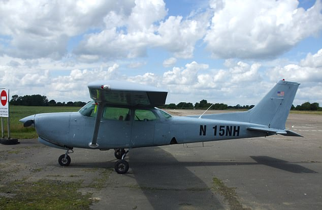 The Cessna aircraft used by Lithuanian Algirdas Barteska. He was caught after Border Force officials acting on a tip off were lying in wait for him as he landed at a remote airfield
