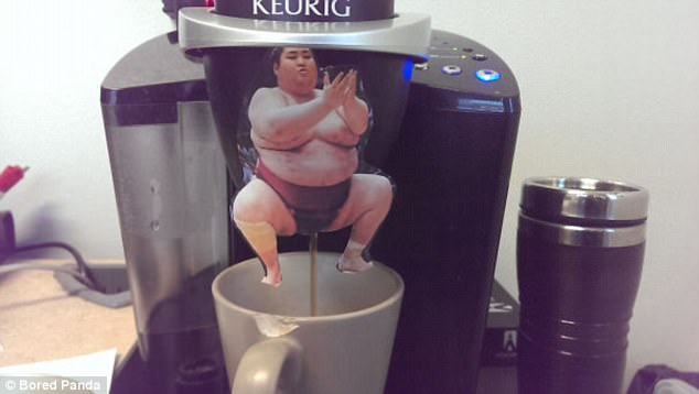The addition of the sumo wrestler makes this coffee seem ever-so-slightly less appetising
