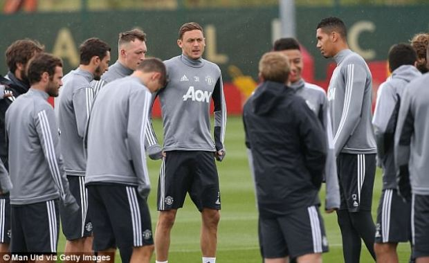Matic wears the No 31 in Tuesday's session as Manchester United prepare to face Sampdoria