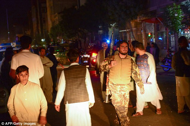 Witnesses said that the attacker first fired on the private guards outside the mosque before entering