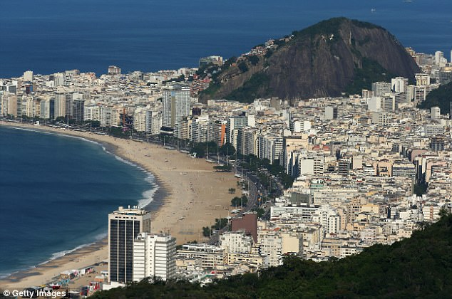 Mr Hammond made the announcement in a joint statement with the Brazilian finance minister. They said the cash is designed to 'support Brazil in targeted areas of its economic development and poverty reduction efforts'. Pictured: A general view of Rio de Janeiro, Brazil