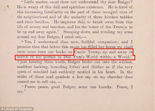 1800年代にアメリカの作家インガーソルロックウッドによって書かれた同じ文の「キャッスルトランプ」と「ドン」