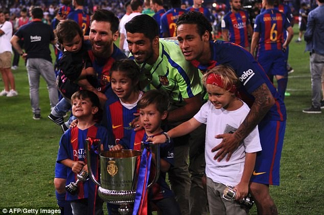 The Brazilian won nine trophies with Barcelona, including the Champions League in 2014-15