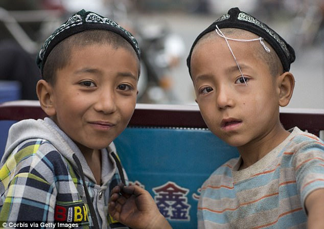 Two children wearing hats spotted in Xinjiang province (File photo)