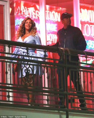 Crazy in love: Beyonce looked absolutely fabulous on a sushi date night with husband Jay Z on Wednesday evening in Los Angeles, nearly two months after the birth of twins Rumi and Sir