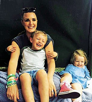 Nic with her children Harry and Edie