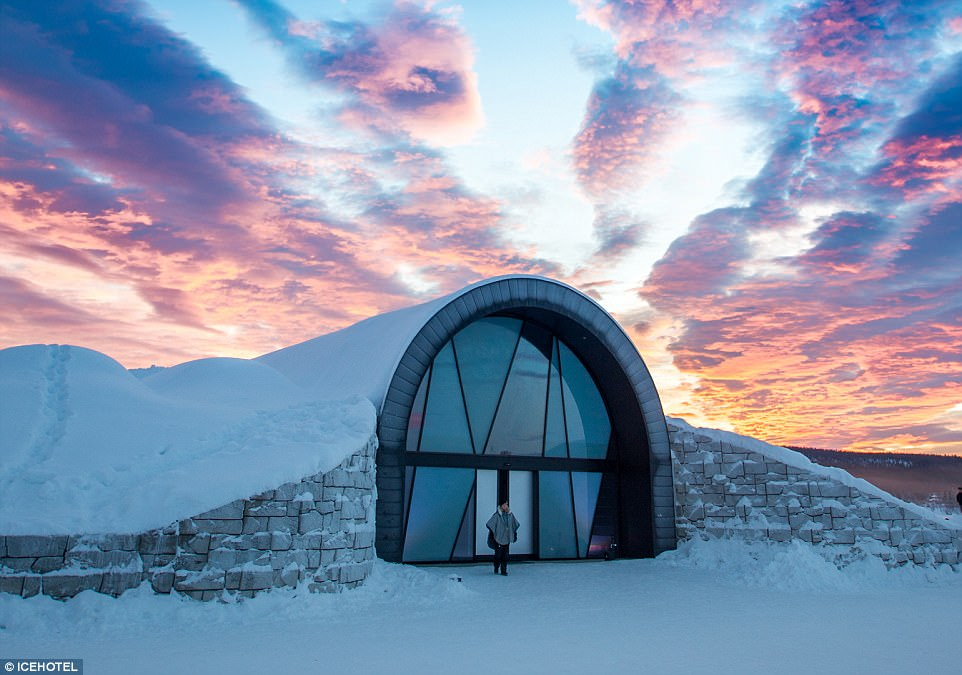 Jeremy spent a night in Sweden's Icehotel (pictured), 150 miles above the Arctic circle, which for the first year is now open during the summer and not just the winter