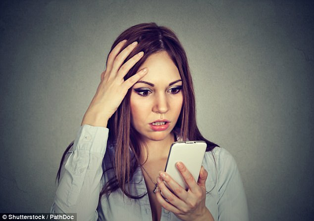 The rising use of social media is being blamed for making people paranoid - especially young people (file photo)