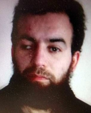 This picture is believed to show Hamou Bachir, 36, the suspected terrorist shot and arrested in connection with this morning's attack in Paris, which saw six soldiers injured when a BMW mowed down their patrol
