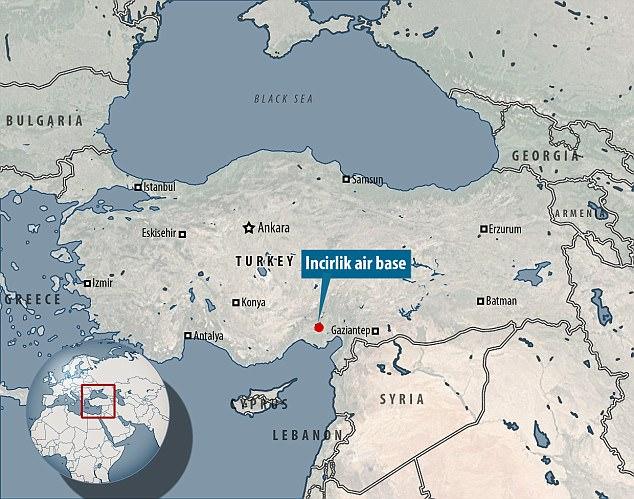 Base de la OTAN: La Fuerza Aérea de los Estados Unidos utiliza Incirlik como puesto de reunión para la campaña aérea contra el ISIS en Siria e Iraq