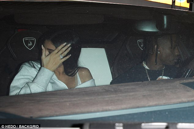 Let's get this show on the road! Jenner and her boyfriend Travis headed off in a Lamborghini