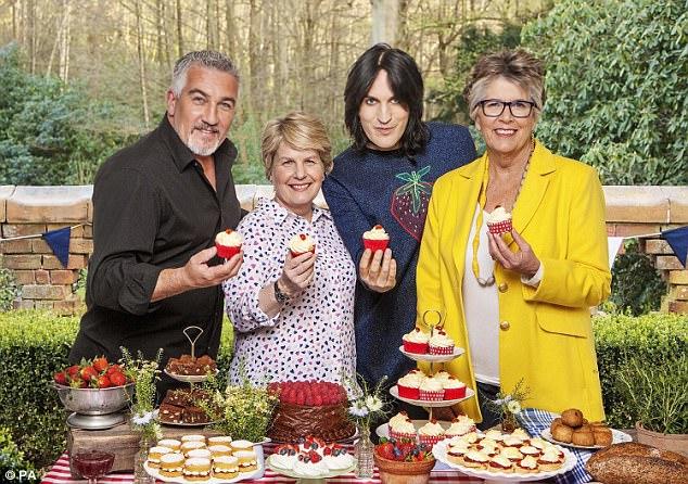 Taste test: Bake Off stars Paul Hollywood, Sandi Toksvig, Noel Fielding and Prue Leith. Left: Yuzu juice, and, far left, the fruit