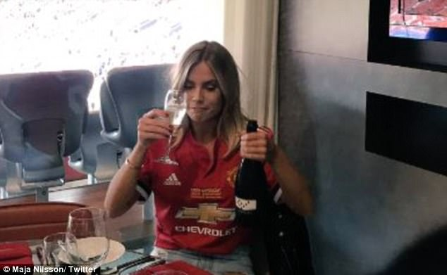 Maja Nilsson, Lindelof's fiancee posted this photo on Twitter and called out the trolls