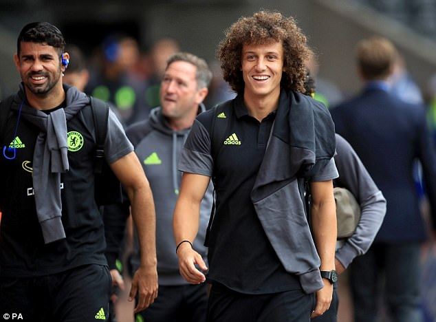 Costa says he is still in close contact with his team mates at Chelsea, including David Luiz