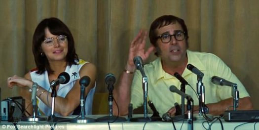 Woman versus man: Jonathan Dayton and Valerie Faris directed the 1973-set feminist comedy, which hits US theaters next Friday and UK theaters November 24