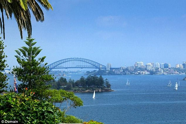 The two properties with Sydney Harbour views (pictured) on Queens Avenue were bought on New Years Eve in 2015 for a combined $52 million