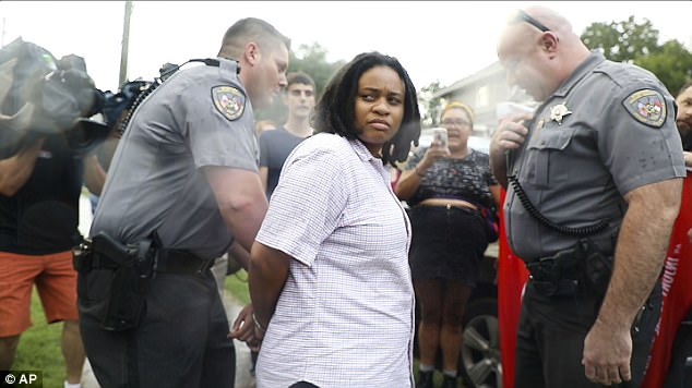 Takiyah Thompson (above), a woman who claims she took part in the toppling of the Confederate statue with a group of protesters in North Carolina, has been arrested and is facing several charges