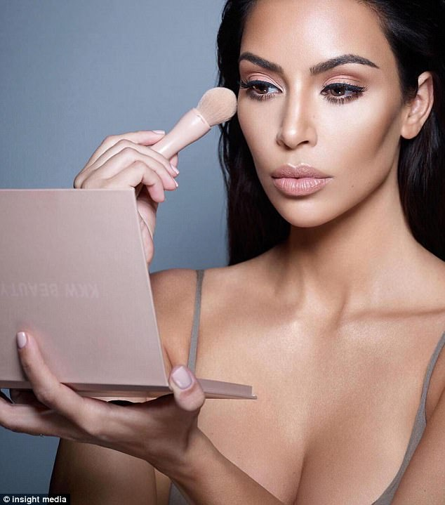 Mogul: Kim has been plugging her new KKW Beauty product which comes out this month
