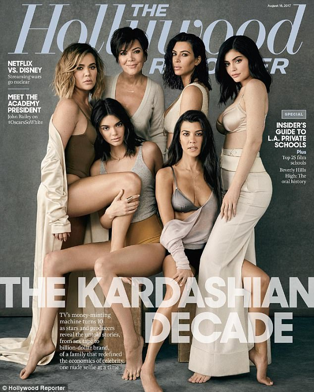 All of them: The entire family graced the cover of the Hollywood weekly