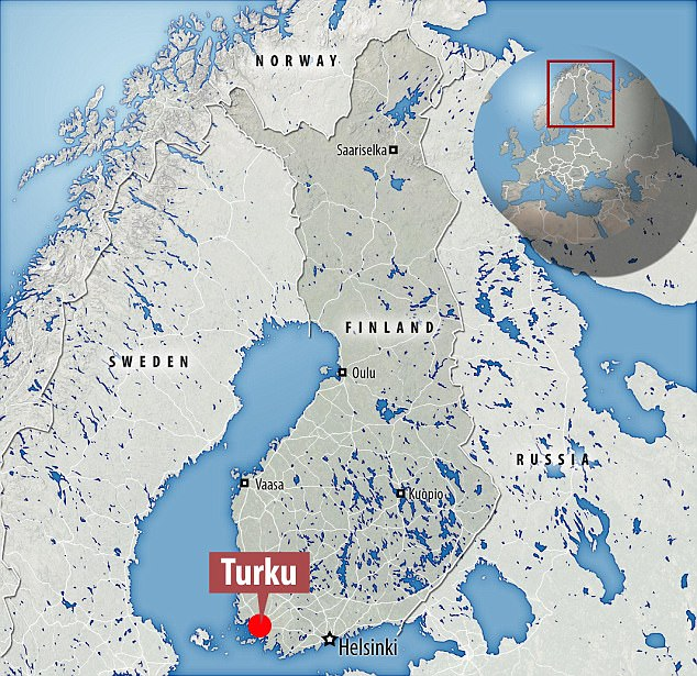 The bloody attack occurred in Turku, Finland