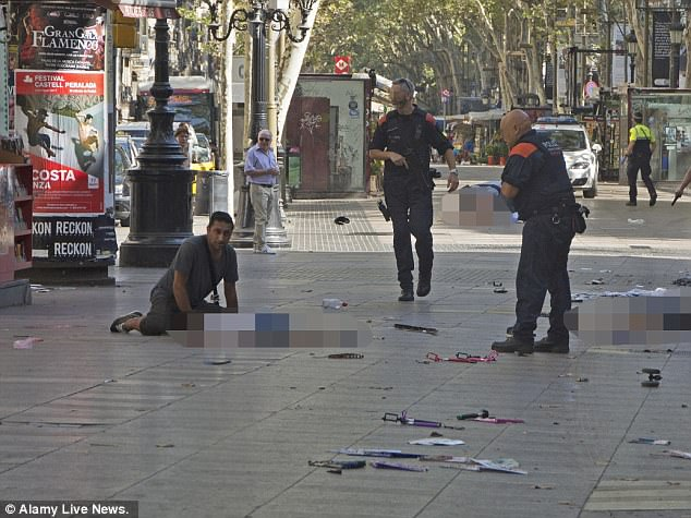 British tourist Harry Athwal rushed to help a young child who was lying injured on the pavement immediately after Thursday's horrific terror attack in Barcelona