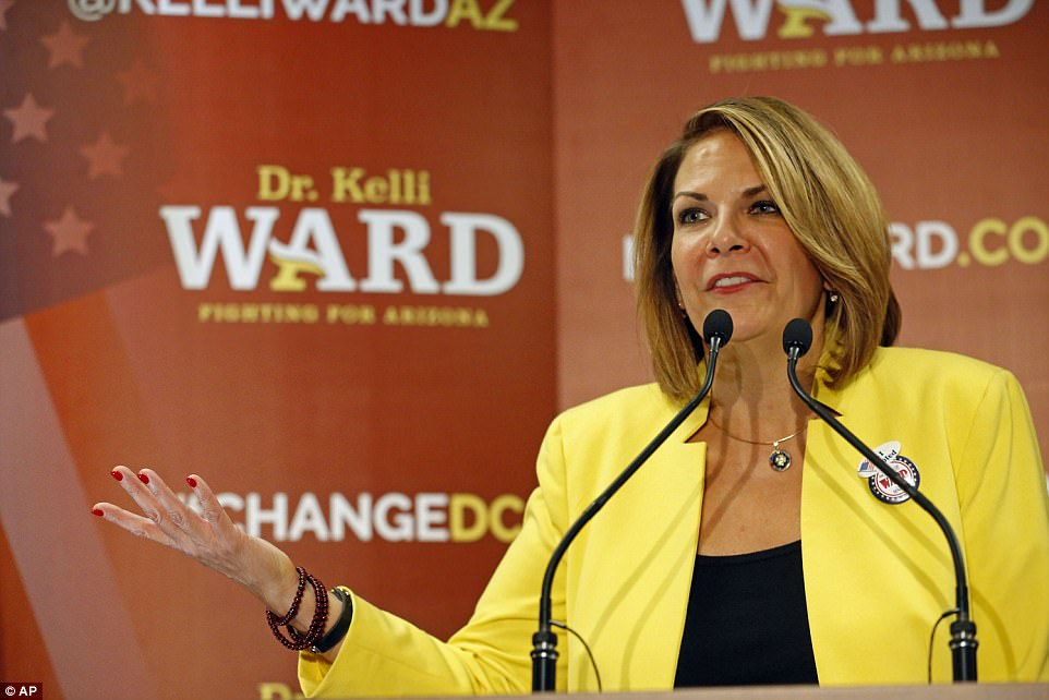 Coming into Tuesday's rally, the president had all but endorsed Flake's primary challenger Kelli Ward, and an intra-party war has broken out over what promises to be a bruising primary race
