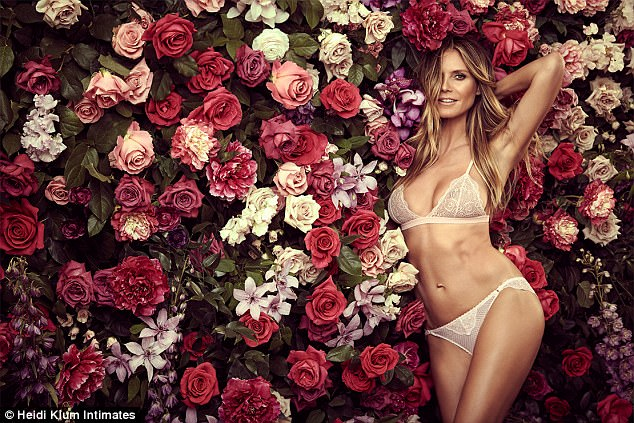 She's a connoisseur: As one of the most famous former Victoria's Secret Angels of all time (she had a 13-year-run), the 44-year-old German-born beauty has worn more bras and underwear than most. Here, she wears the Petunia Passion set from her line