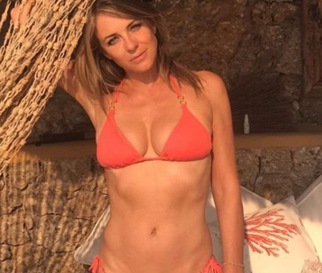 Elizabeth Hurley 52 Proved To Be Flawless As She Exhibited Her Ample Assets And