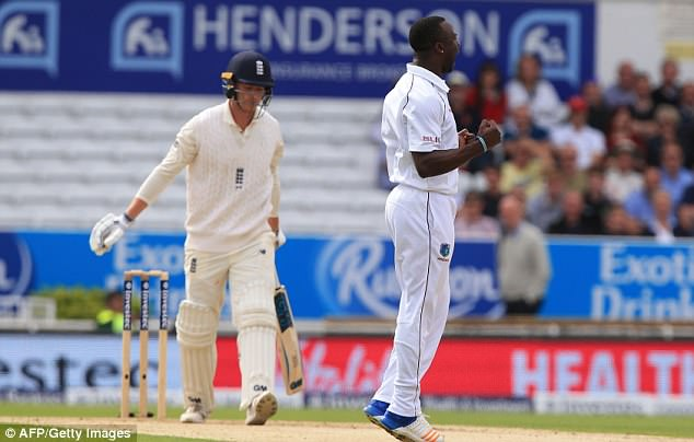 Tom Westley went for just three runs when he got out lbw off Kemar Roach's ball