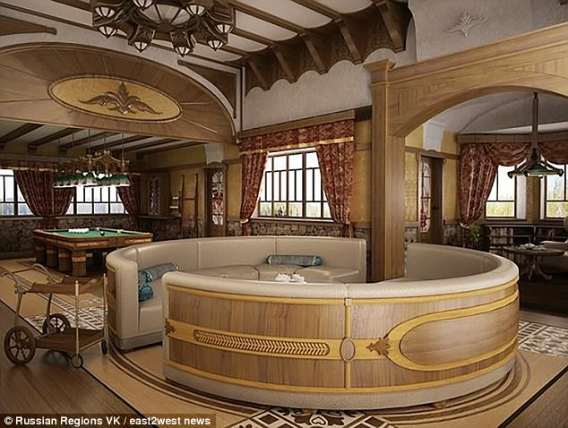 Putin'ssumptuous bolt-hole is part of a complex involving a restored tsarist mansion famous as being used in a Soviet movie about Sherlock Holmes